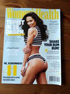 juli nummer Women's Health met artikel agorafobie